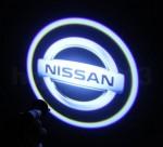 Набор из двух светодиодных подсветок на двери с логотипом автомобиля Nissan