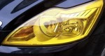 Пленка для фар желтая