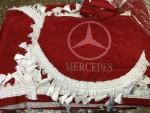 Шторки в кабину Mercedes красные