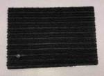 Ковролин на основе черный полосатый 2м ширина