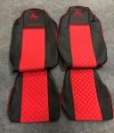 Чехлы на сидения Iveco Stralis красные 2006-2010г
