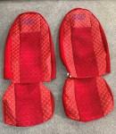 Чехлы на сиденья DAF XF 95-105 красные ELAKS